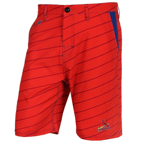 St. Louis Cardinals Official MLB Dots Walking Shorts with Pockets Button and Zipper