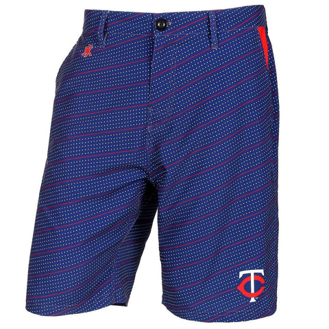 Minnesota Twins Official MLB Dots Walking Shorts with Pockets Button and Zipper