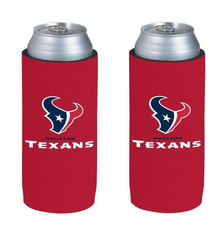 Houston Texans NFL  Ultra Slim Can Drink Beer Holder 2-Pack