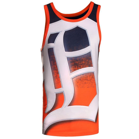 Detroit Tigers Official MLB Big Logo Mens Tank Top