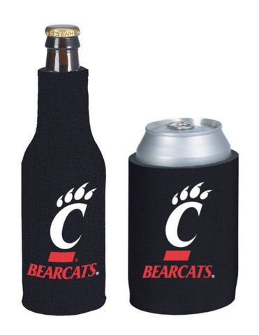 Cincinnati Bearcats NCAA Bottle & Can Beer Soda Drink Holder-2 Pack