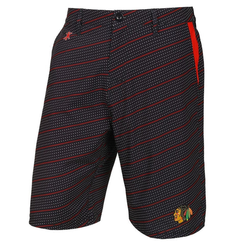 Chicago Blackhawks Official NHL Dots Walking Shorts with Pockets Button and Zipper