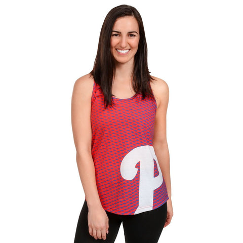 Philadelphia Phillies Official MLB Womens Raceback Tank Top Shirt