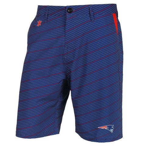 New England Patriots Official NFL Dots Walking Shorts with Pockets Button and Zipper