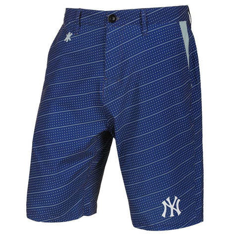 New York Yankees Official MLB Dots Walking Shorts with Pockets Button and Zipper