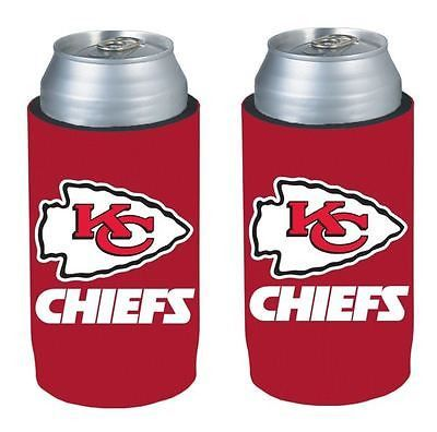 Kansas City Chiefs NFL  Ultra Slim Can Drink Beer Holder 2-Pack