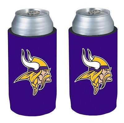 Minnesota Vikings NFL  Ultra Slim Can Drink Beer Holder 2-Pack