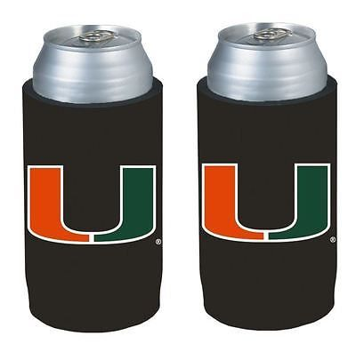 Miami Hurricanes NCAA Ultra Slim Can Drink Beer Holder 2-Pack