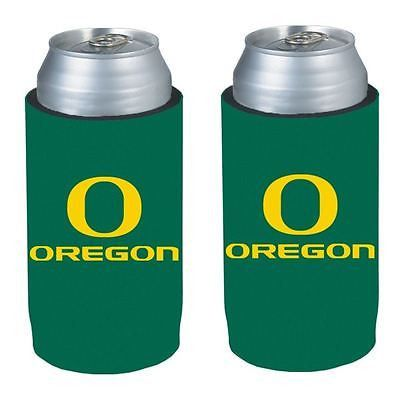 Oregon Ducks NCAA Ultra Slim Can Drink Beer Holder 2-Pack