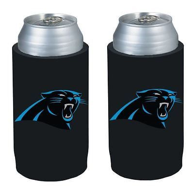 Carolina Panthers NFL  Ultra Slim Can Drink Beer Holder 2-Pack