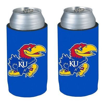 Kansas Jayhawks NCAA Ultra Slim Can Drink Beer Holder 2-Pack