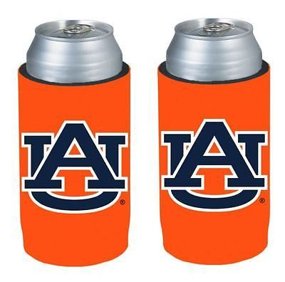 Auburn Tigers NCAA Ultra Slim Can Drink Beer Holder 2-Pack