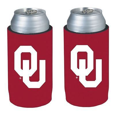 Oklahoma Sooners NCAA Ultra Slim Can Drink Beer Holder 2-Pack