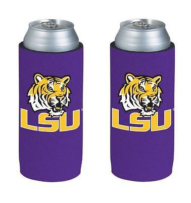 LSU Tigers NCAA Ultra Slim Can Drink Beer Holder 2-Pack