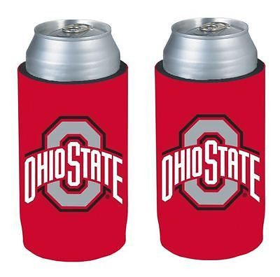 Ohio State Buckeyes NCAA Ultra Slim Can Drink Beer Holder 2-Pack