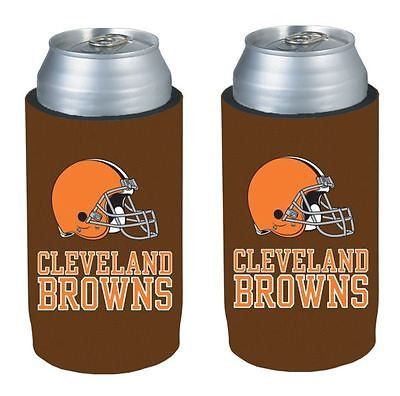 Cleveland Browns NFL  Ultra Slim Can Drink Beer Holder 2-Pack