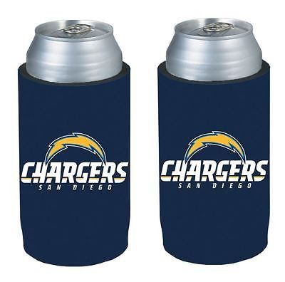 San Diego Chargers NFL  Ultra Slim Can Drink Beer Holder 2-Pack