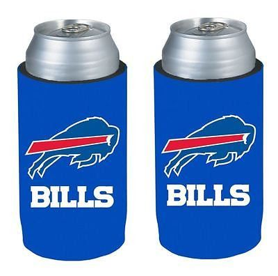 Buffalo Bills NFL  Ultra Slim Can Drink Beer Holder 2-Pack