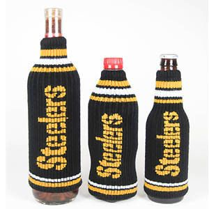 Pittsburgh Steelers NFL Krazy Kovers Stretchy Woolie Bottle Cooler