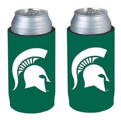 Michigan State Spartans NCAA Ultra Slim Can Drink Beer Holder 2-Pack
