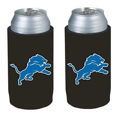 Detroit Lions NFL  Ultra Slim Can Drink Beer Holder 2-Pack