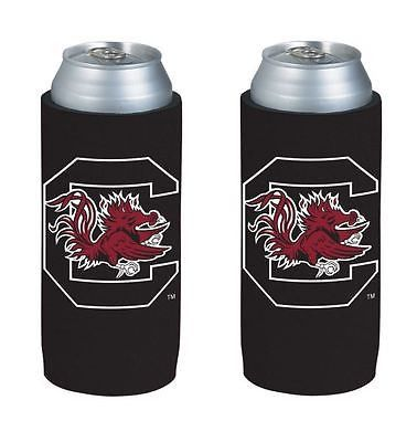 South Carolina Gamecocks NCAA Ultra Slim Can Drink Beer Holder 2-Pack