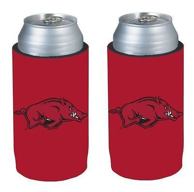 Arkansas Razorbacks NCAA Ultra Slim Can Drink Beer Holder 2-Pack