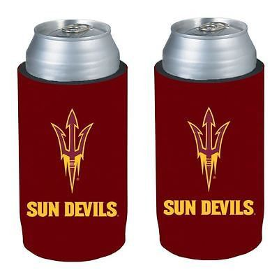 Arizona State Sun Devils NCAA Ultra Slim Can Drink Beer Holder 2-Pack