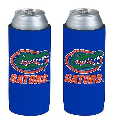 Florida Gators NCAA Ultra Slim Can Drink Beer Holder 2-Pack