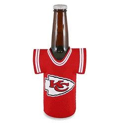 Kansas City Chiefs NFL Beer Bottle Jersey Cooler - Neoprene Cooler