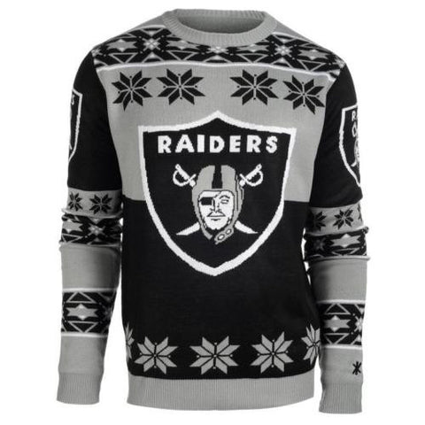 Oakland Raiders NFL Big Logo Crew Neck Ugly Sweater