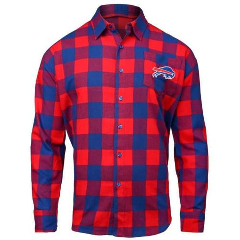 Buffalo Bills NFL Mens Football Large Check Flannel Shirt