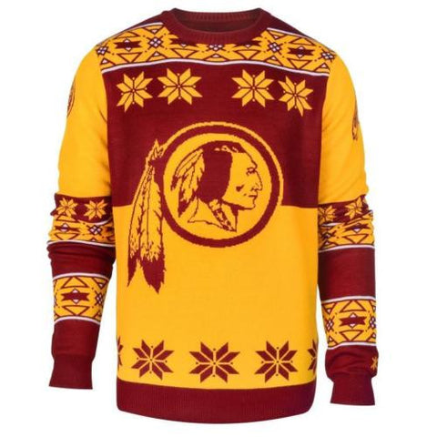 Washington Redskins NFL Big Logo Crew Neck Ugly Sweater