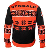 Cincinnati Bengals NFL Big Logo Crew Neck Ugly Sweater