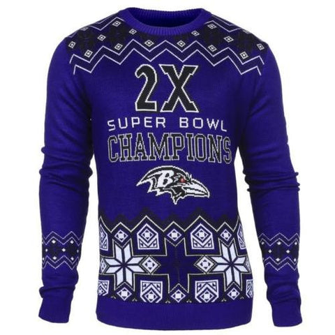 Baltimore Ravens Official NFL Super Bowl Commemorative Crew Neck Sweater