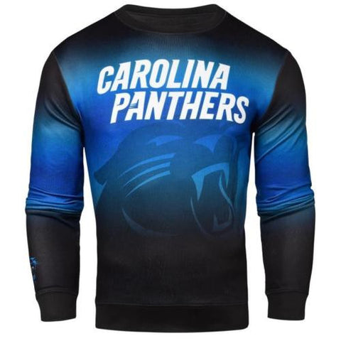 Carolina Panthers NFL Printed Gradient Crew Neck Sweater