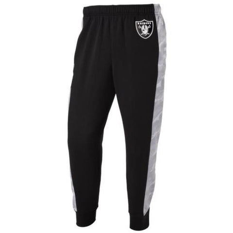 Oakland Raiders NFL Mens Printed Poly Insert Camo Stripe Jogger Pants