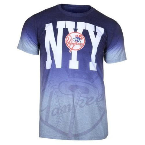 New York Yankees Official MLB Gradient Tee By Klew