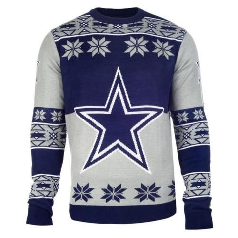 Dallas Cowboys NFL Big Logo Crew Neck Ugly Sweater