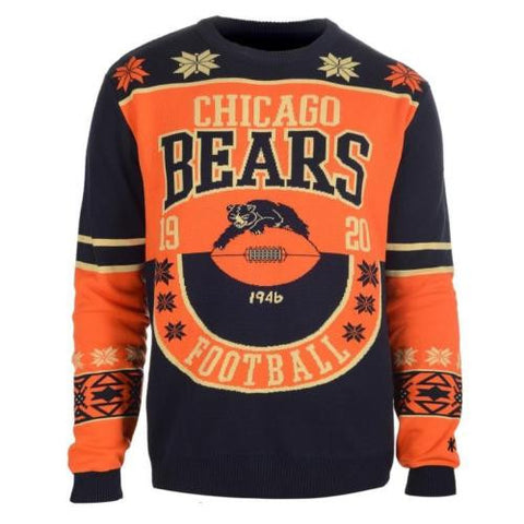 Chicago Bears Official NFL Warm Winter Cotton Retro Sweater