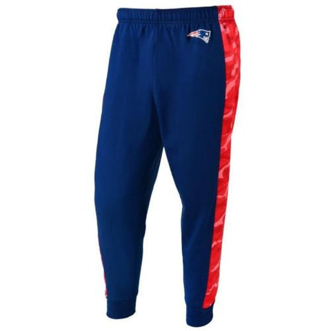 New England Patriots NFL Mens Printed Poly Insert Camo Stripe Jogger Pants