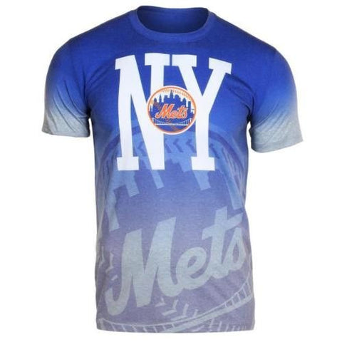 New York Mets Official MLB Gradient Tee By Klew