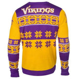 Minnesota Vikings NFL Big Logo Crew Neck Ugly Sweater