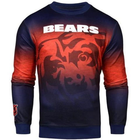 Chicago Bears NFL Printed Gradient Crew Neck Sweater