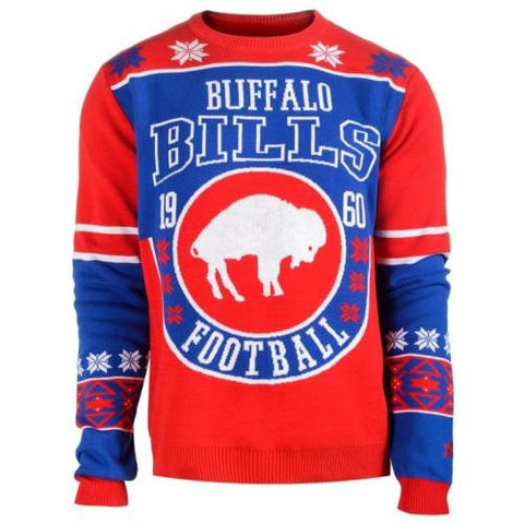 Buffalo Bills Official NFL Warm Winter Cotton Retro Sweater