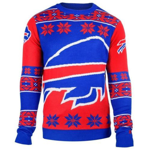 Buffalo Bills NFL Big Logo Crew Neck Ugly Sweater