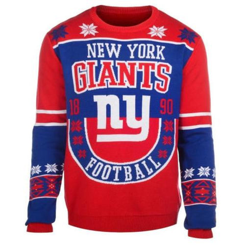 New York Giants Official NFL Warm Winter Cotton Retro Sweater