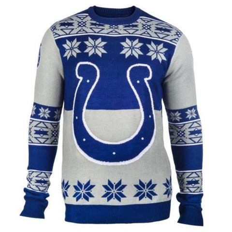 Indianapolis Colts NFL Big Logo Crew Neck Ugly Sweater