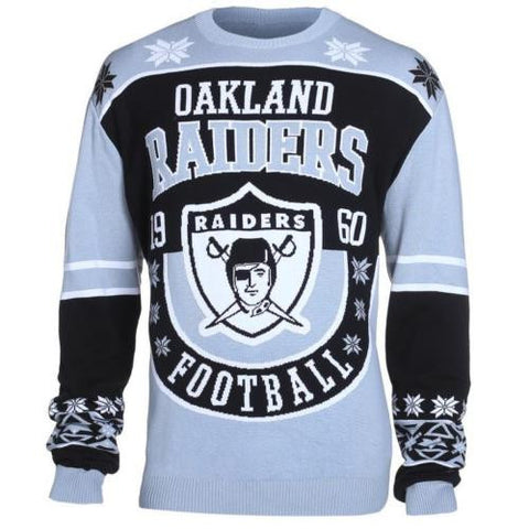 Oakland Raiders Official NFL Warm Winter Cotton Retro Sweater