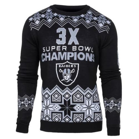 Oakland Raiders Official NFL Super Bowl Commemorative Crew Neck Sweater
